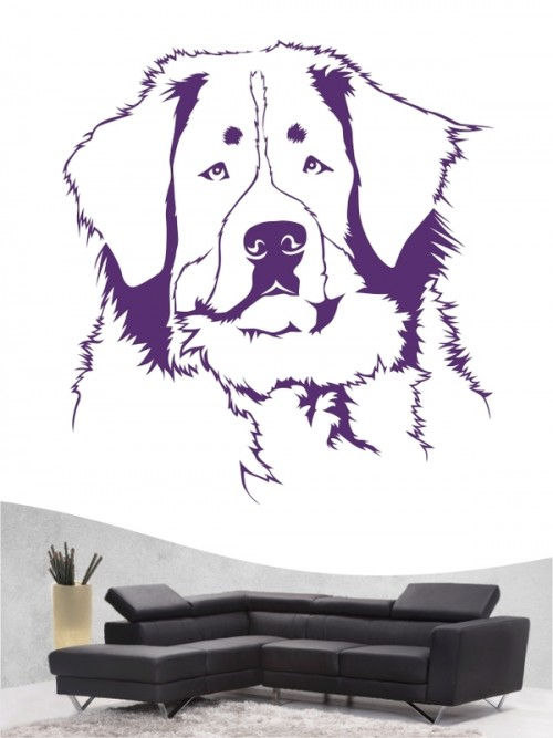 Berner Sennenhund a - Wandtattoo