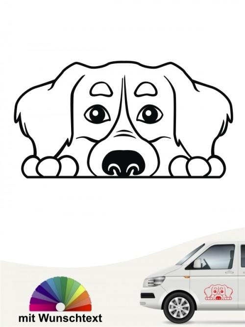 Berner Sennenhund Comic 1 Sticker anfalas.de