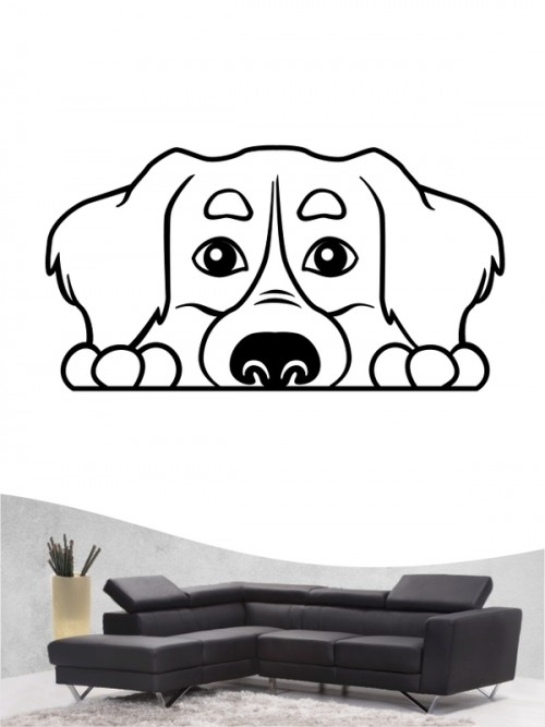 Berner Sennenhund Comic 1 - Wandtattoo