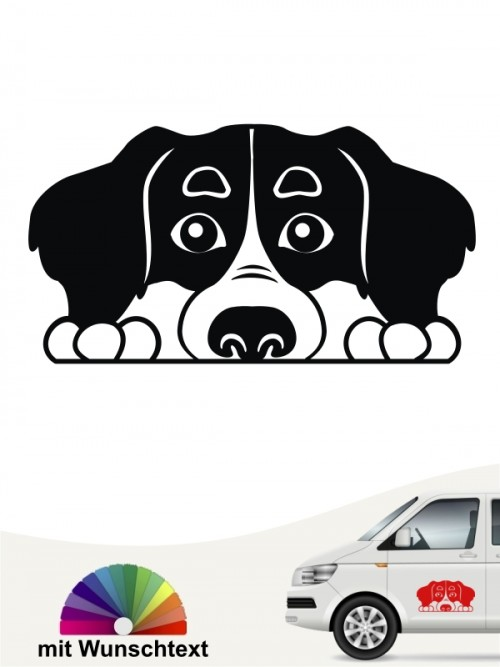 Berner Sennenhund Comic 2 Aufkleber anfalas.de