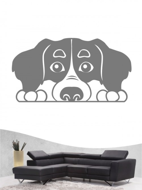 Berner Sennenhund Comic 2 - Wandtattoo