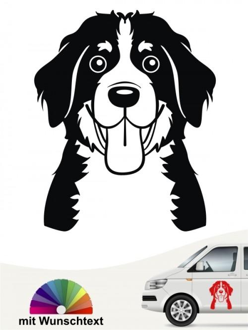 Berner Sennenhund Comic  Aufkleber anfalas.de