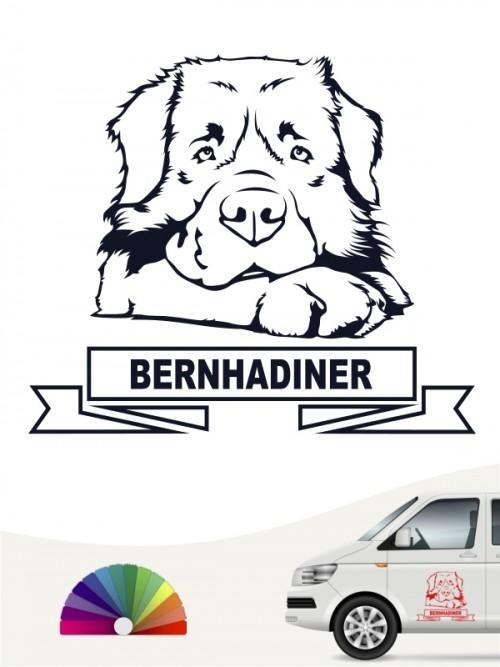 Hunde-Autoaufkleber Bernhardiner von Anfalas.de