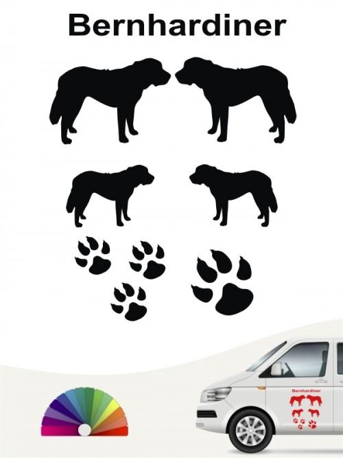 Hunde-Autoaufkleber Bernhardiner 12 von Anfalas.de