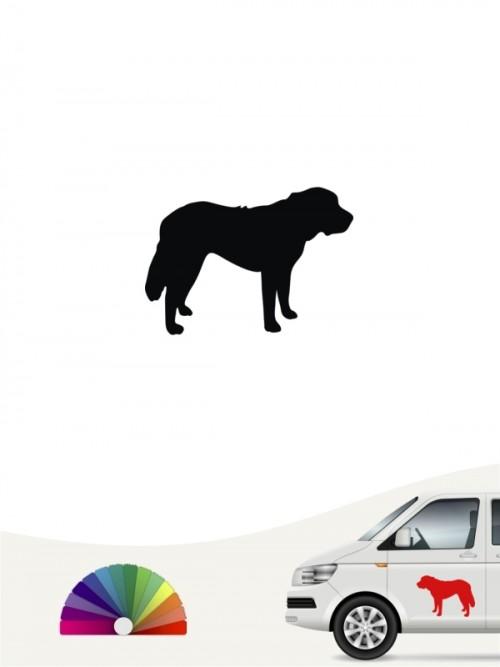 Hunde-Autoaufkleber Bernhardiner 1 Mini von Anfalas.de