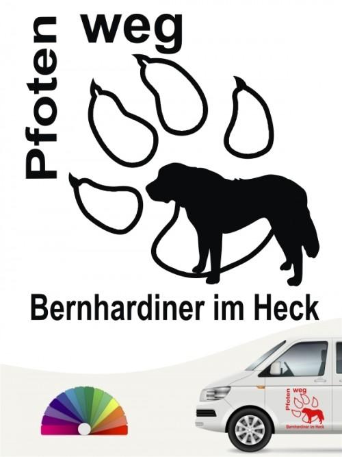 Pfoten weg Bernhardiner Autoaufkleber anfals.de