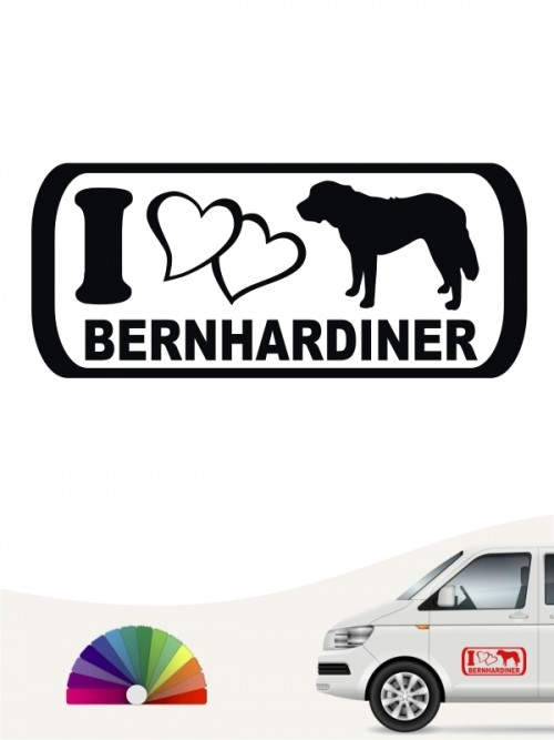 I Love Bernhardiner Aufkleber anfalas.de