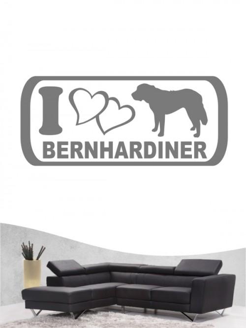 Bernhardiner 6 - Wandtattoo