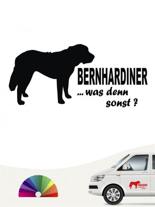 Bernhardiner was denn sonst Autosticker anfalas.de