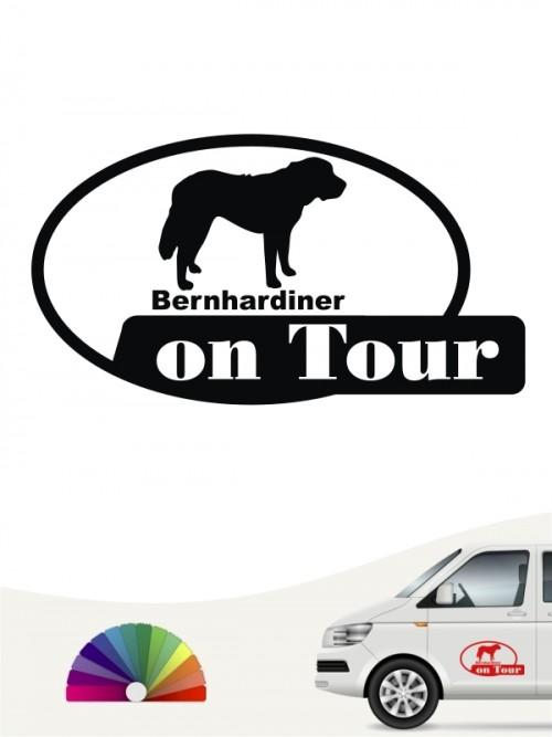 Bernhardiner on Tour Autoaufkleber anfalas.de