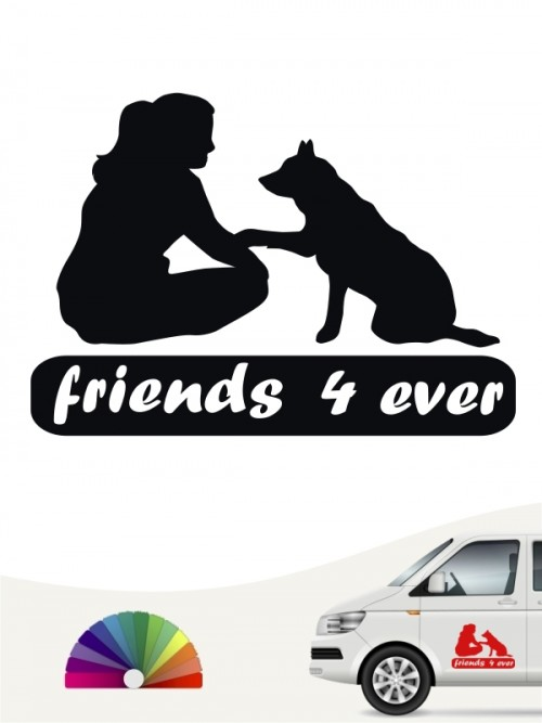 Beste Freunde four ever Autoaufkleber von anfalas.de