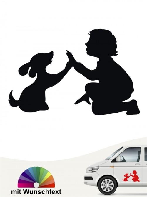 Mensch & Hund Best Friend Autosticker von anfalas.de