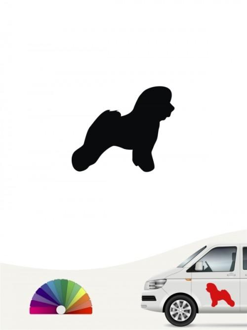 Hunde-Autoaufkleber Bichon Frise 1 Mini von Anfalas.de