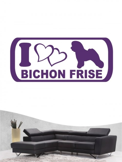 Bichon Frise 6 - Wandtattoo