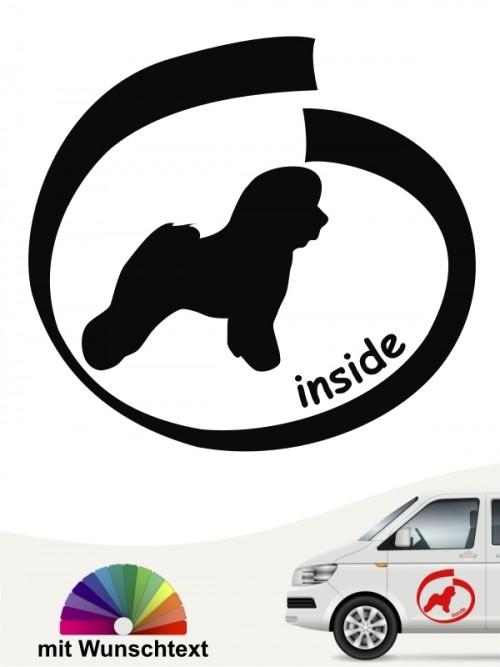 Bichon Frise inside Hundeaufkleber mit Text anfalas.de