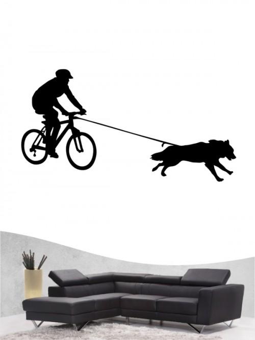 Bikejöring 1 - Wandtattoo