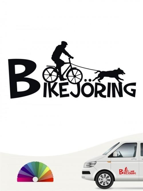 Bikejöring Team Heckscheibenaufkleber mit Wunschtext von anfalas.de