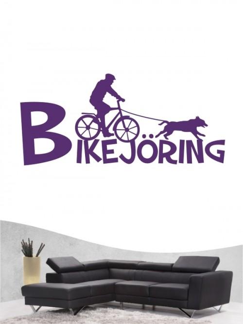 Bikejöring 20 - Wandtattoo