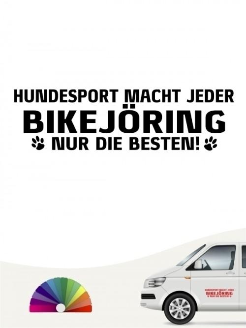 Hunde-Autoaufkleber Bikejöring nur die Besten von Anfalas.de
