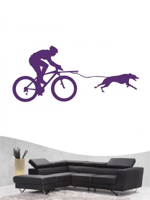 Bikejöring 4 - Wandtattoo