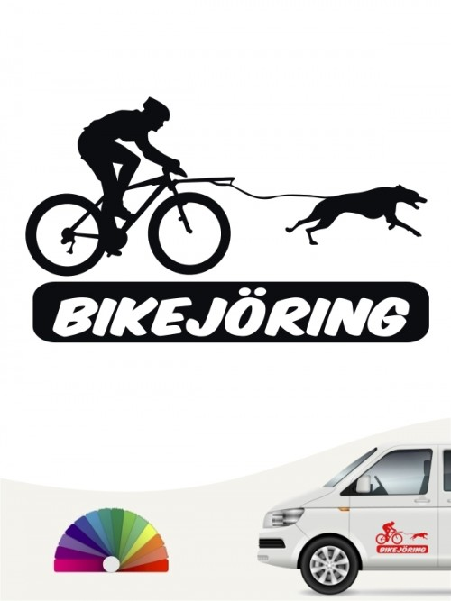 Bikejöring Sticker fürs Auto von anfalas.de