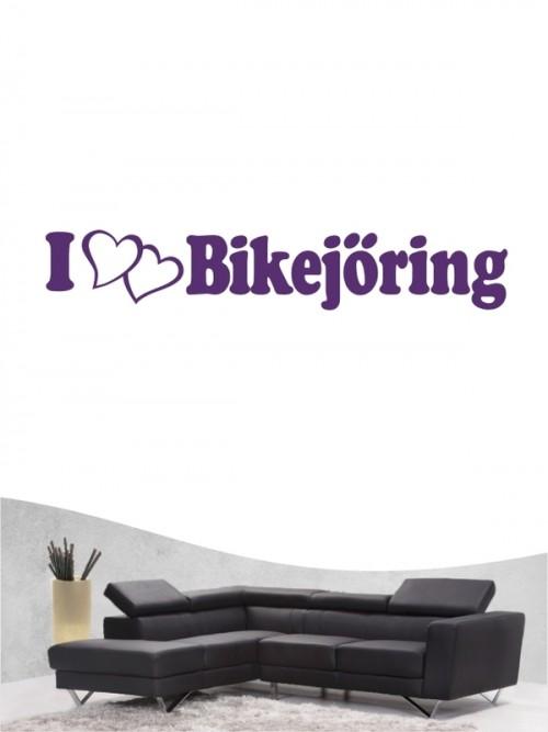 Bikejöring 6 - Wandtattoo