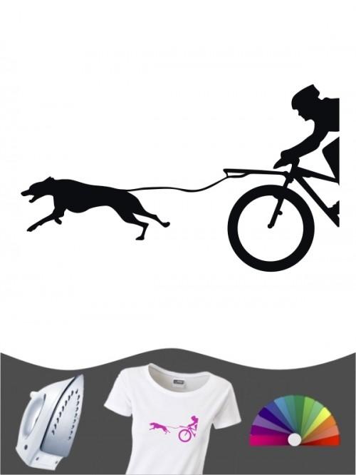 Hunde-Bügelbild Bikejöring 9 von Anfalas.de