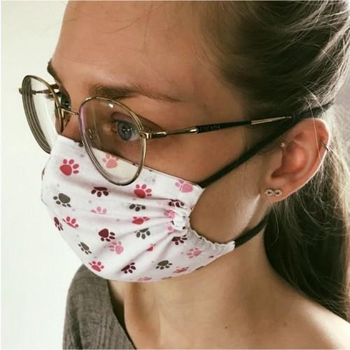 Bikini - Maske für Brillenträger Pfote waschbar