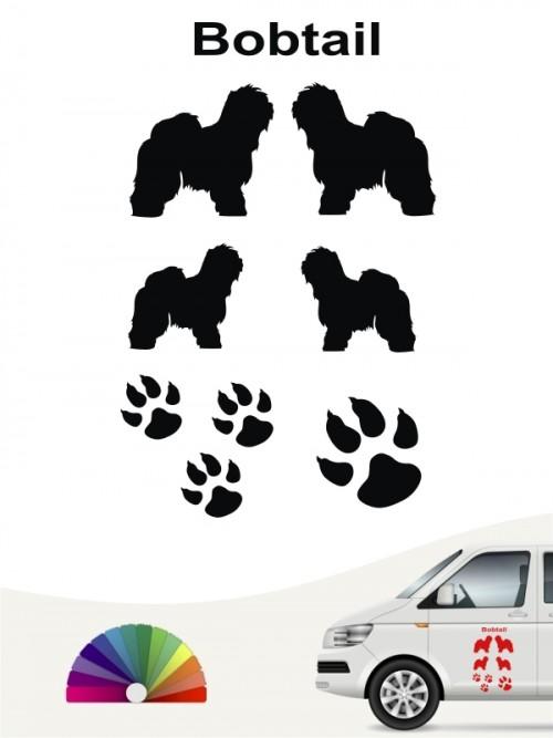 Hunde-Autoaufkleber Bobtail 12 von Anfalas.de