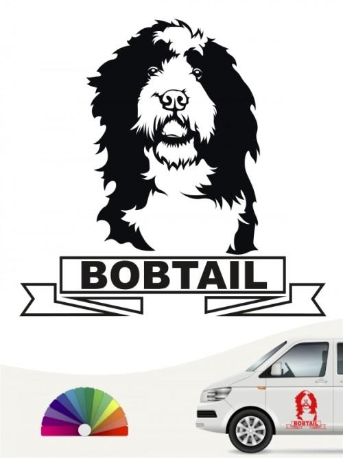 Hunde-Autoaufkleber Bobtail 15 von Anfalas.de