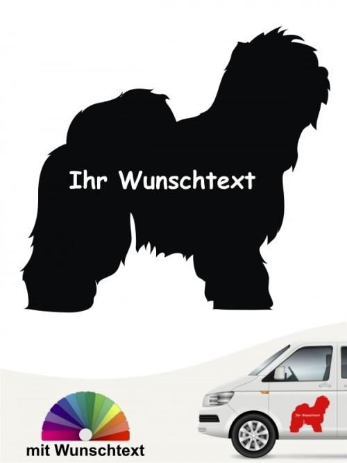 Bobtail Silhouette mit Wunschtext anfalas.de