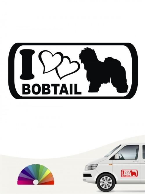 I Love Bobtail Heckscheibenaufkleber anfalas.de