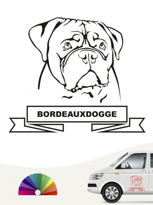 Hunde-Autoaufkleber Borderdeauxdogge 15a von Anfalas.de