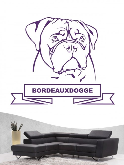 Hunde-Wandtattoo Bordeauxdogge 15a von Anfalas.de