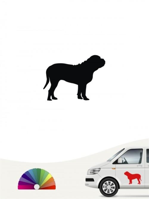 Hunde-Autoaufkleber Bordeauxdogge 1 Mini von Anfalas.de