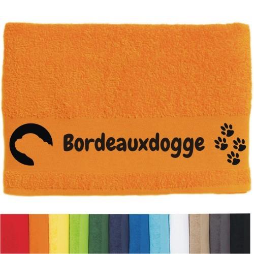"""DOG - Handtuch """"Bordeauxdogge"""" von anfalas.de"""
