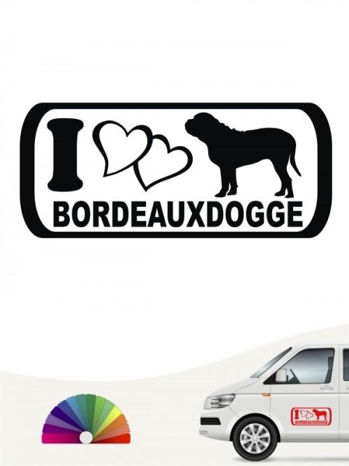 I Love Bordeauxdogge Aufkleber anfalas.de