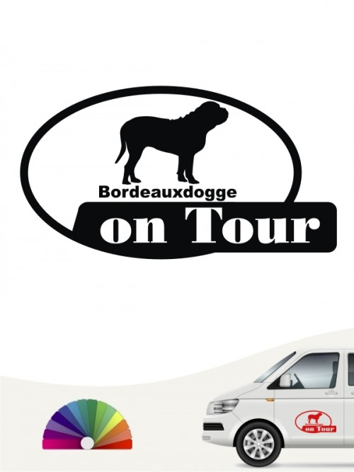 Bordeauxdogge on Tour Heckscheibenaufkleber anfalas.de