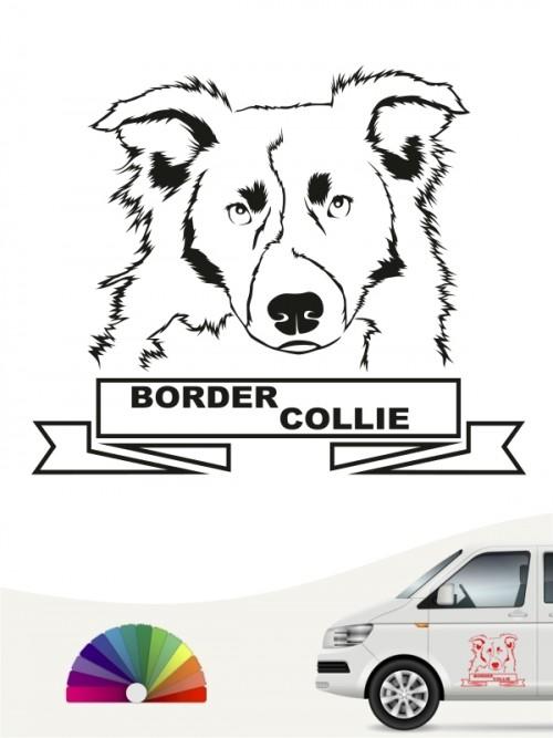 Hunde-Autoaufkleber Border Collie 15 von Anfalas.de