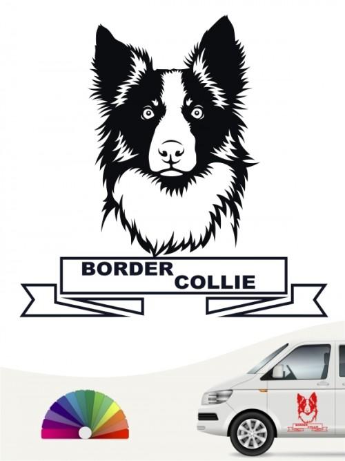 Hunde-Autoaufkleber Border Collie 15b von Anfalas.de