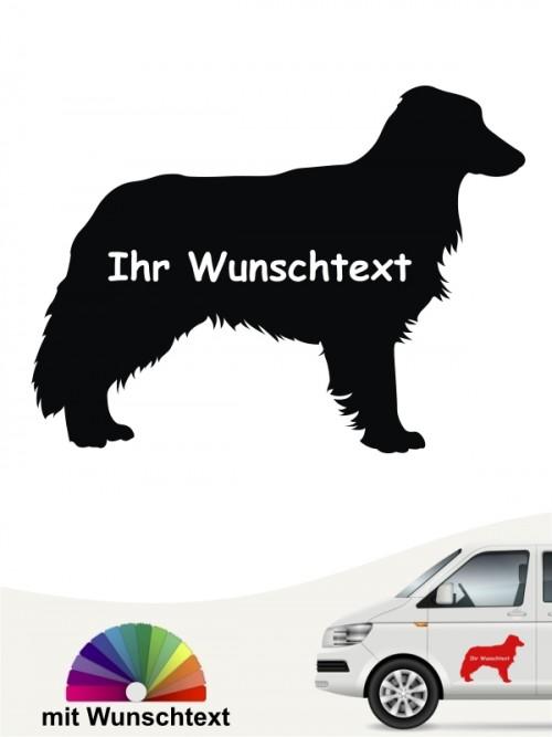 Border Collie Silhouette mit Wunschtext anfalas.de