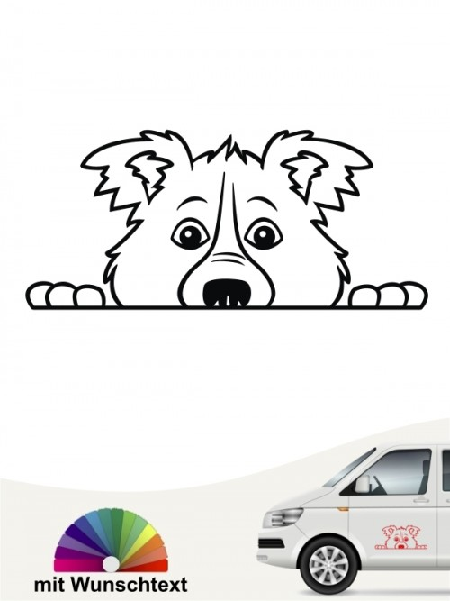Border Collie Comic 1 Sticker anfalas.de