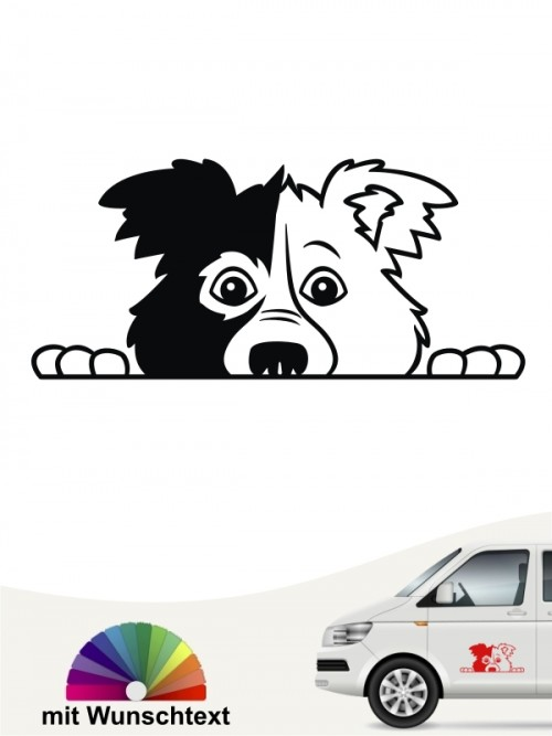 Border Collie Comic 2 Aufkleber anfalas.de