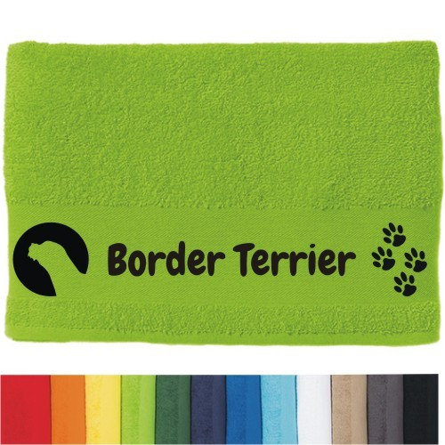 """DOG - Handtuch """"Border Terrier"""" von anfalas.de"""