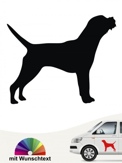 Border Terrier Heckscheibenaufkleber mit Wunschtext anfalas.de