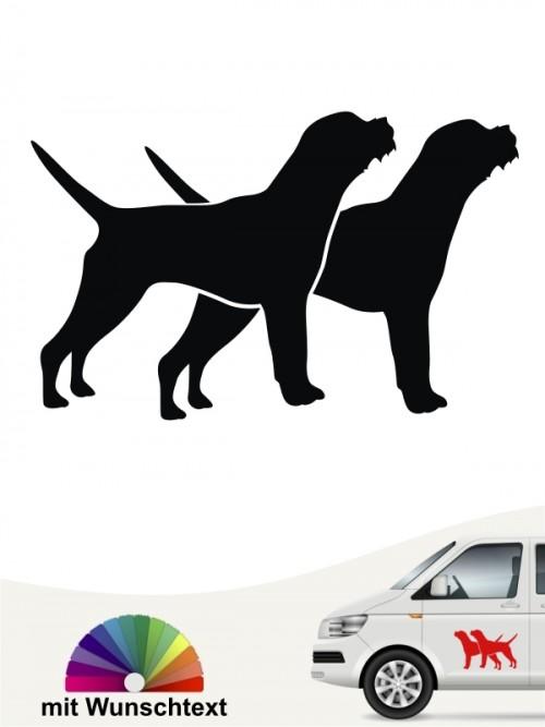 Border Terrier Autoaufkleber mit Wunschtext anfalas.de