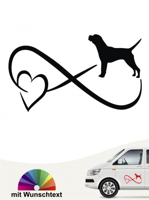 Border Terrier Autoaufkleber mit Wunschtext von anfalas.de
