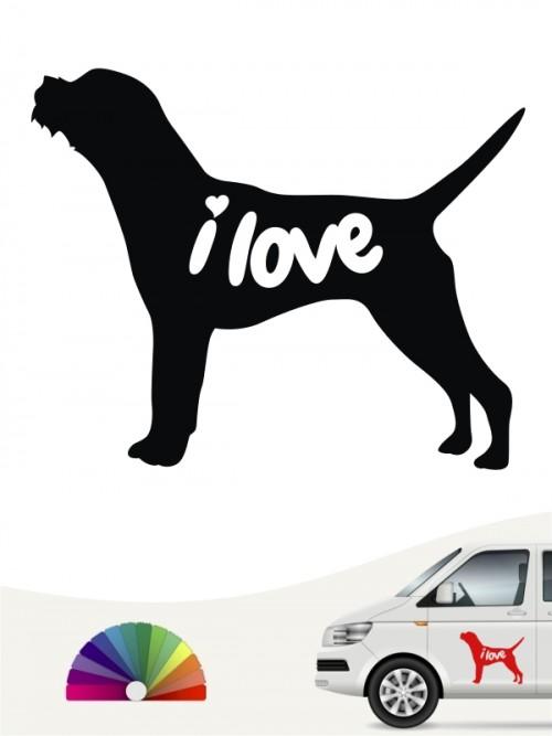 Border Terrier i love Aufkleber von anfalas.de