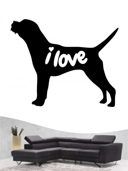 Border Terrier 43 - Wandtattoo
