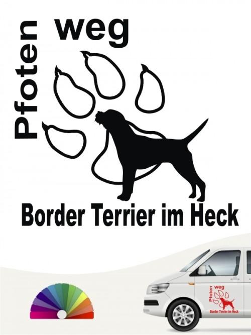 Pfoten weg Border Terrier im Heck Sticker anfalas.de